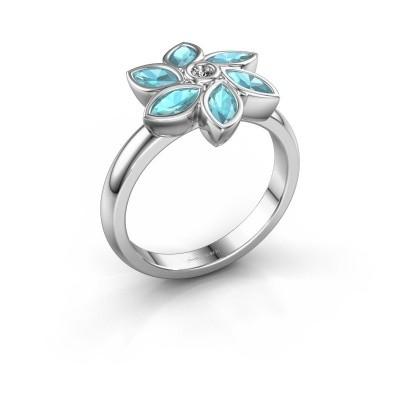 Ring Amina 585 witgoud diamant 0.03 crt