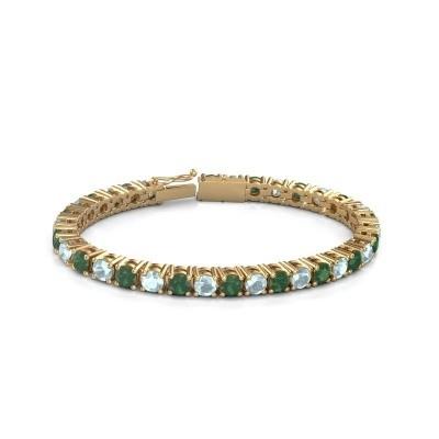 Foto van Tennisarmband Ming 375 goud smaragd 5 mm