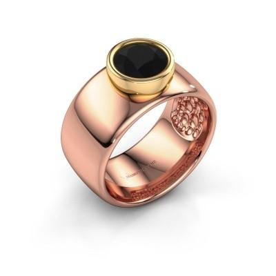 Foto van Ring Klarinda 585 rosé goud zwarte diamant 1.56 crt