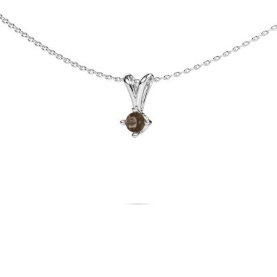 Picture of Necklace Jannette 585 white gold smokey quartz 3.7 mm