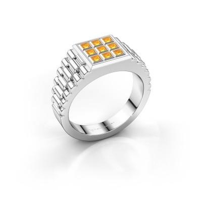 Foto van Rolex stijl ring Chavez 925 zilver citrien 2 mm