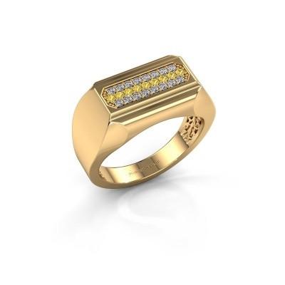 Foto van Heren ring Gerard 750 goud gele saffier 1.4 mm