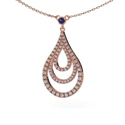 Picture of Pendant Delpha 375 rose gold sapphire 1.4 mm