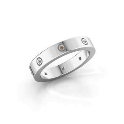 Foto van Ring Carrie 4 925 zilver bruine diamant 0.054 crt