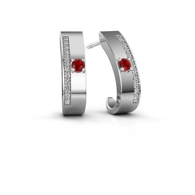 Picture of Earrings Vick1 925 silver ruby 2.4 mm