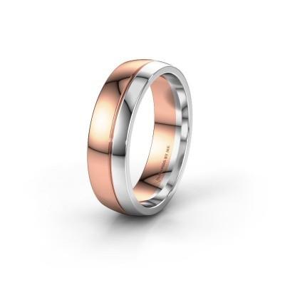 Trouwring WH0223M56A 585 rosé goud ±6x1.7 mm