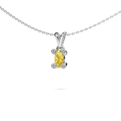 Picture of Necklace Cornelia Marquis 950 platinum yellow sapphire 7x3 mm