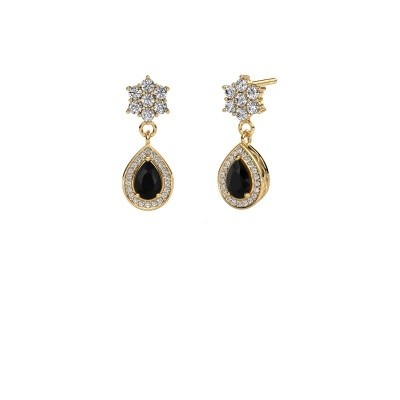 Picture of Drop earrings Era 375 gold black diamond 1.61 crt