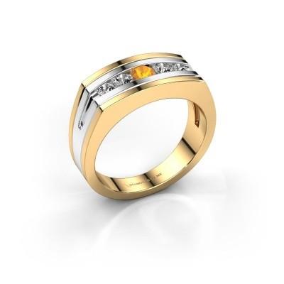 Foto van Heren ring Huub 585 goud citrien 3.7 mm