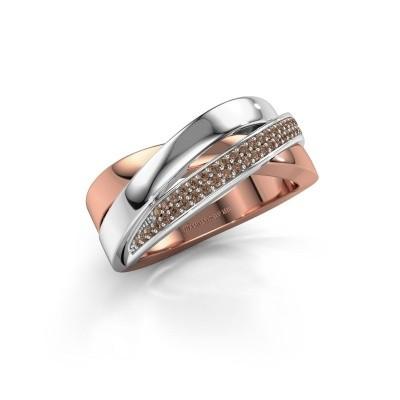 Foto van Ring Katherina 585 rosé goud bruine diamant 0.255 crt