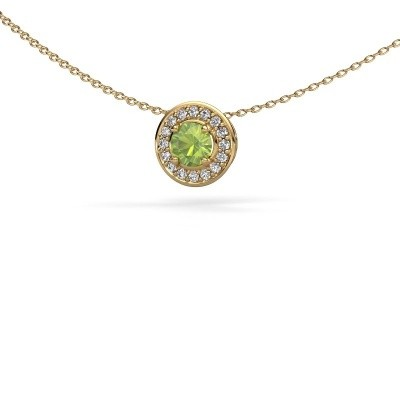 Picture of Pendant Agaat 585 gold peridot 5 mm