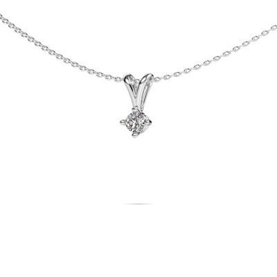 Foto van Ketting Jannette 950 platina diamant 0.20 crt
