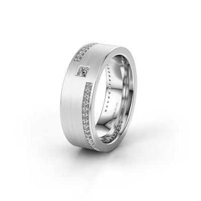 Trouwring WH2048L17DM 585 witgoud diamant ±7x2.4 mm