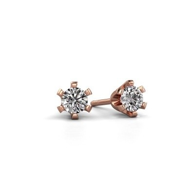 Picture of Stud earrings Shana 585 rose gold zirconia 4 mm