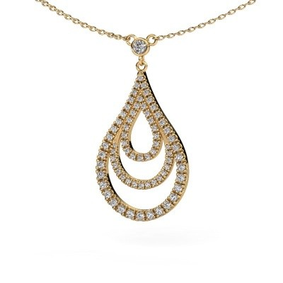 Picture of Pendant Delpha 585 gold zirconia 1.4 mm