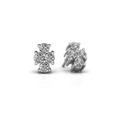 Oorstekers Richelle 585 witgoud diamant 0.80 crt