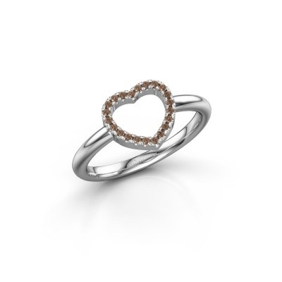 Picture of Ring Heart 7 585 white gold brown diamond 0.11 crt
