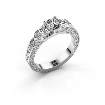 Picture of Engagement ring Gillian 585 white gold lab created 0.52 crt