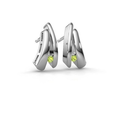 Picture of Earrings Liesel 925 silver peridot 2 mm