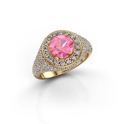 Foto van Ring Dayle 375 goud roze saffier 7 mm