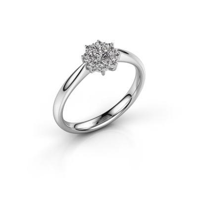 Foto van Verlovingsring Carolyn 1 585 witgoud diamant 0.26 crt