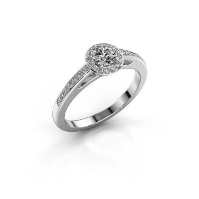 Verlovingsring Aaf 585 witgoud diamant 0.46 crt