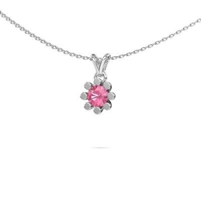 Picture of Pendant Carola 1 950 platinum pink sapphire 5 mm
