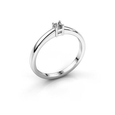 Foto van Promise ring Eline 1 950 platina diamant 0.10 crt