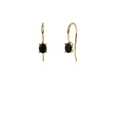 Picture of Drop earrings Cleo 585 gold black diamond 1.20 crt