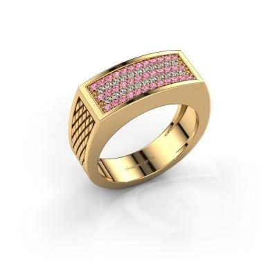 Foto van Heren ring Erwin 585 goud roze saffier 1.2 mm