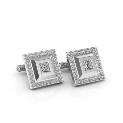 Foto van Manchetknopen Joris 950 platina diamant 1.06 crt