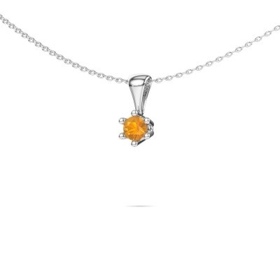 Picture of Necklace Fay 925 silver citrin 4 mm