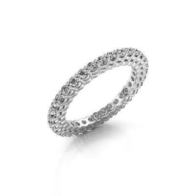 Foto van Aanschuifring Rufina 3 950 platina diamant 0.896 crt