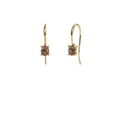 Bild von Ohrhänger Cleo 585 Gold Braun Diamant 1.00 crt