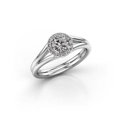 Bild von Verlobungsring Verla 1 585 Weissgold Diamant 0.505 crt
