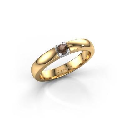 Foto van Verlovingsring Rianne 1 585 goud rookkwarts 3 mm