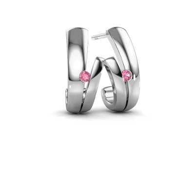 Picture of Earrings Shela 925 silver pink sapphire 2 mm