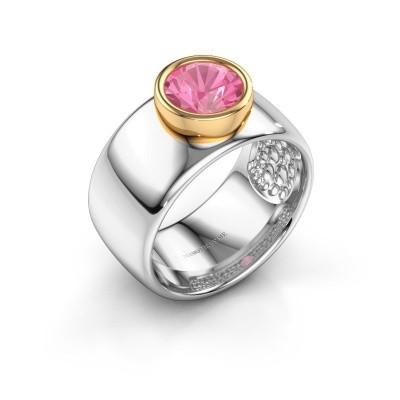 Foto van Ring Klarinda 585 witgoud roze saffier 7 mm