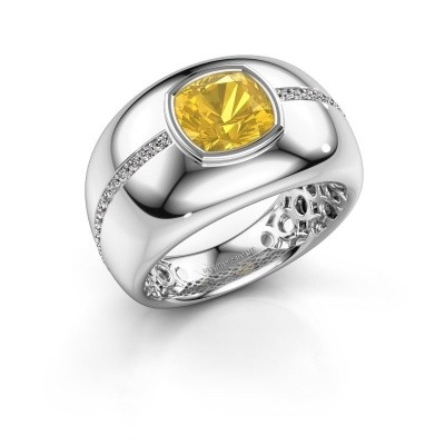 Picture of Ring Sydney 585 white gold yellow sapphire 7.5 mm