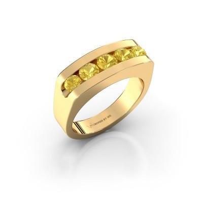 Foto van Heren ring Richard 375 goud gele saffier 4 mm