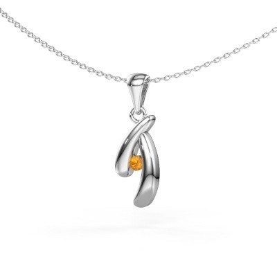 Picture of Pendant Jinke 585 white gold citrin 2.5 mm