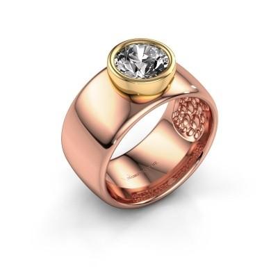 Foto van Ring Klarinda 585 rosé goud diamant 1.30 crt
