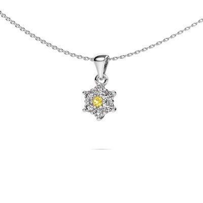 Picture of Necklace Chantal 950 platinum yellow sapphire 2.4 mm