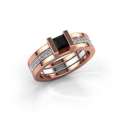 Foto van Ring Desire 585 rosé goud zwarte diamant 0.615 crt