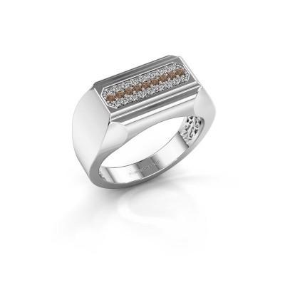 Foto van Heren ring Gerard 950 platina bruine diamant 0.30 crt