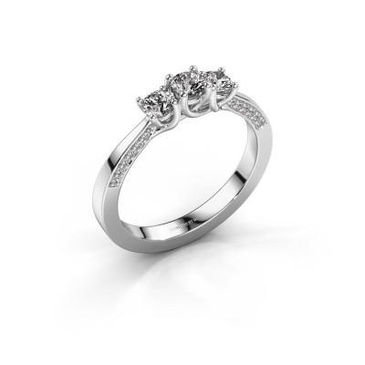 Verlovingsring Rivka 585 witgoud diamant 0.50 crt