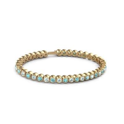 Foto van Tennisarmband Mellisa 375 goud blauw topaas 3.5 mm