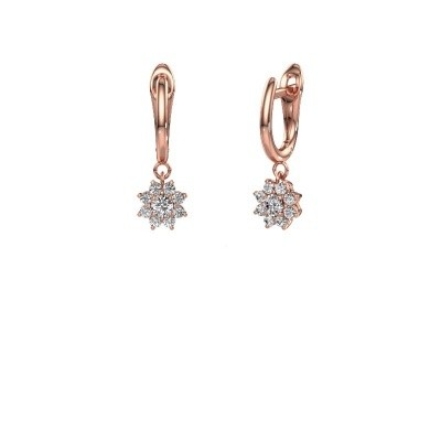 Picture of Drop earrings Camille 1 375 rose gold zirconia 3 mm