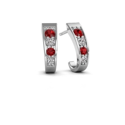 Picture of Earrings Glady 925 silver ruby 3 mm
