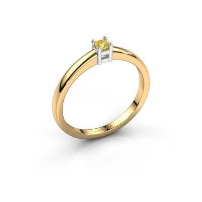 Foto van Promise ring Eline 1 585 goud gele saffier 3 mm